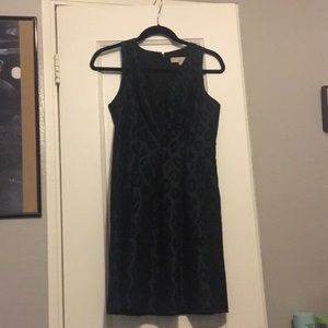 EUC dark green/black cheetah print dress.
